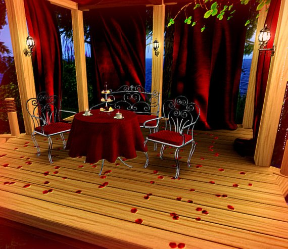Valentines Aphrodite Shop Gazebo dining